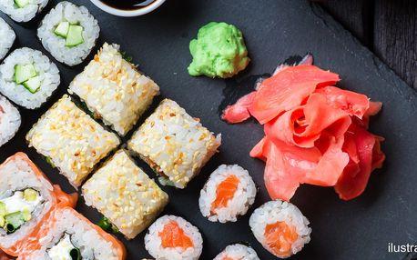 Sushi set s 35 ks: krevety, losos i tuňák