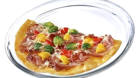SIMAX forma na pizzu d320x20 sklo