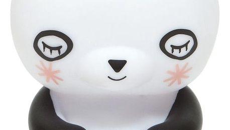 PETIT MONKEY Noční LED lampička Panda bear, černá barva, bílá barva, plast