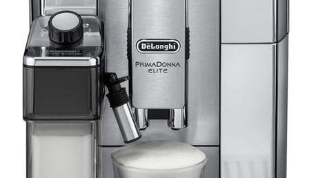 Espresso DeLonghi PrimaDonna Elite ECAM 650.75 MS stříbrné