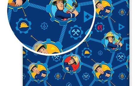 Jerry Fabrics Dětské bavlněné prostěradlo Fireman Sam 008, 90 x 200 cm