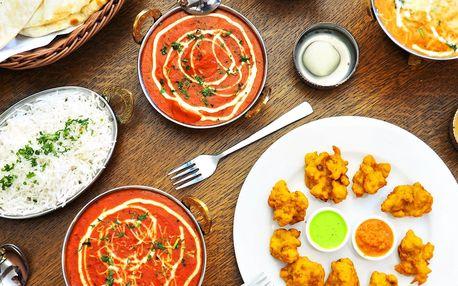 Tříchodové menu v nové indické restauraci pro 2