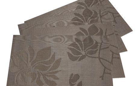 JAHU Prostírání Listy béžová, 30 x 45 cm, sada 4 ks
