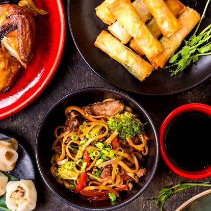 Asijské menu: polévka, předkrm i hlavní chod