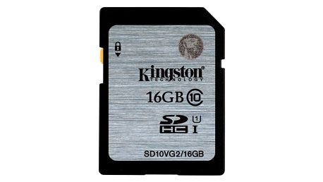 Paměťová karta Kingston SDHC 16GB UHS-I U1 (45R/10W) (SD10VG2/16GB)