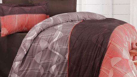 Kvalitex Bavlněné povlečení Delux Stripe lososová new, 200 x 200 cm, 2 ks 70 x 90 cm