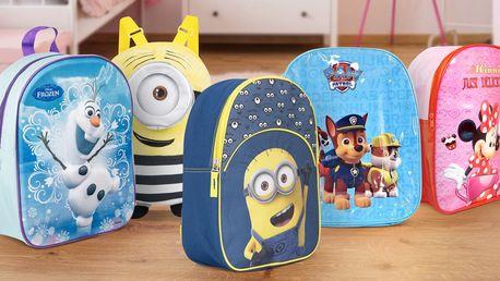 Dětské licenční batůžky s oblíbenými postavičkami