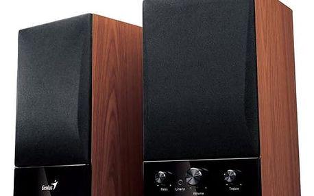 Reproduktory Genius SP-HF1250B 2.0 černá/imitace dřeva (31731022100)
