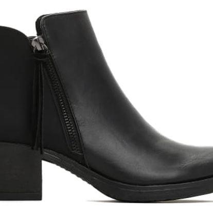 Dámské černé lesklé kotníkové boty Devon 043a