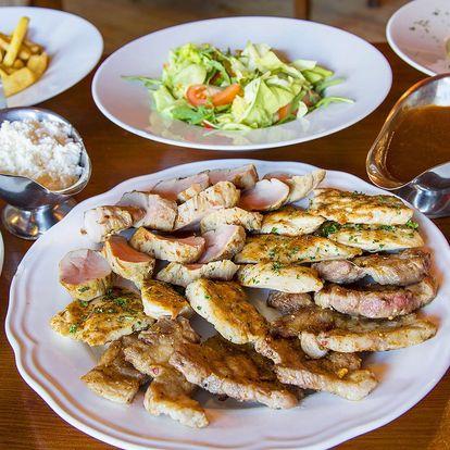Bohatý raut pro 4 či 6 osob: šunka, steaky i panenka