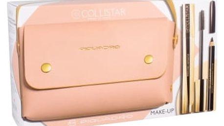 Collistar Infinito dárková kazeta pro ženy řasenka 11 ml + tužka na oči 2 g Black + kabelka Extra Black