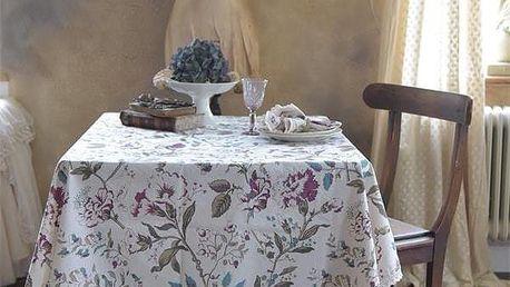 Jeanne d'Arc Living Ubrus Wild flower 140x220, multi barva, krémová barva, textil
