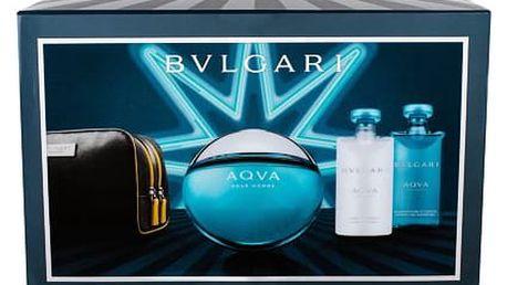 Bvlgari Aqva Pour Homme EDT dárková sada M - EDT 100 ml + sprchový gel 75 ml + balzám po holení 75 ml + kosmetická taška