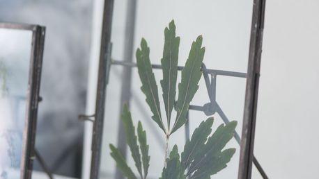 IB LAURSEN Kovový fotorámeček s opěrkou 25,5x20,5 cm, šedá barva, sklo, kov