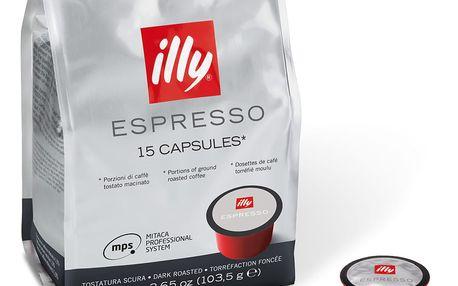 Kávové kapsle Illy Mitaca Dark 15 ks