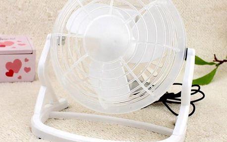 Mini USB ventilátor - bílá barva - dodání do 2 dnů