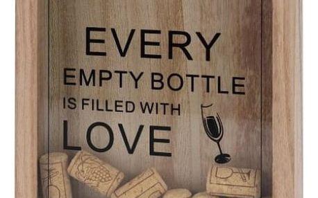 Dekorativní zásobník na korky - dřevo