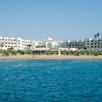 Egypt - Sahl Hasheesh na 8 dní, ultra all inclusive s dopravou letecky z Prahy přímo na pláži