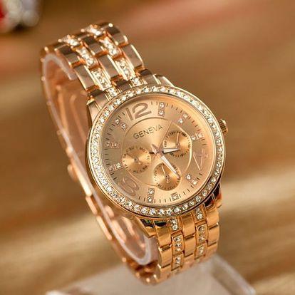 Dámské hodinky s kamínky - 3 varianty