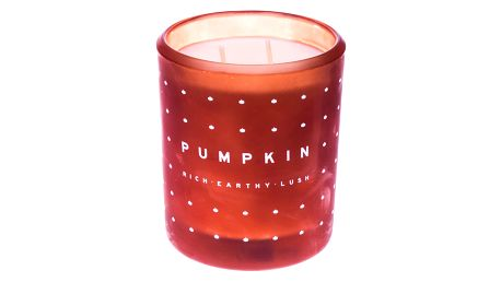 dw HOME Vonná svíčka ve skle Pumpkin 371g, oranžová barva, sklo, vosk