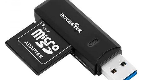 USB čtečka paměťových karet s indikačním světlem - dodání do 2 dnů