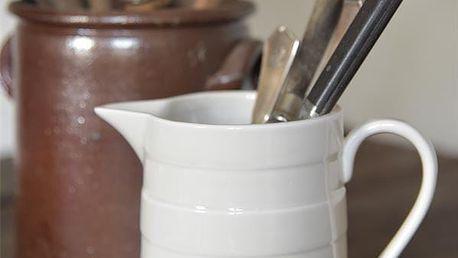 Jeanne d'Arc Living Porcelánový džbán Signature 700 ml, krémová barva, porcelán