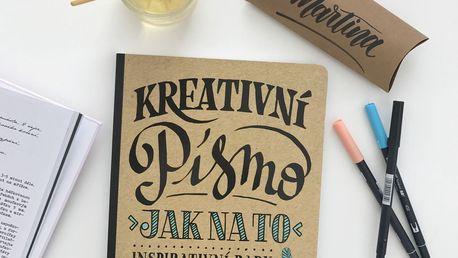 Kreativní písmo - Jak na to, hnědá barva, papír