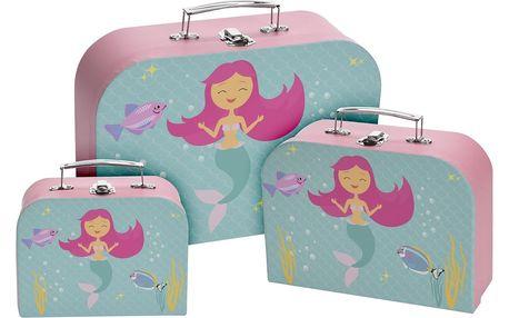 Sada dětských kufrů Little Mermaid , 3 ks