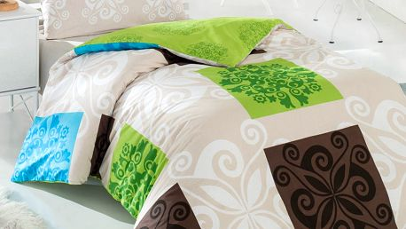 Povlečení Sedef zelené 200x140 cm + 90x70 cm, 140 x 200 cm, 70 x 90 cm
