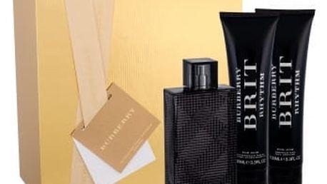 Burberry Brit Rhythm For Him dárková kazeta pro muže toaletní voda 90 ml + sprchový gel 100 ml + balzám po holení 100 ml