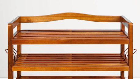 Botník z akátového dřeva D5379 Dekorhome