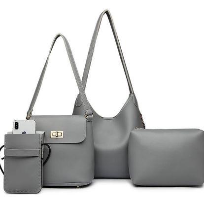 SET: Dámská šedá kabelka Marion 6835