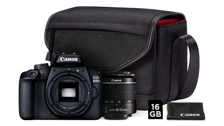 Digitální fotoaparát Canon EOS 4000D + EF-S 18-55mm DC + VUK černý (3011C013)