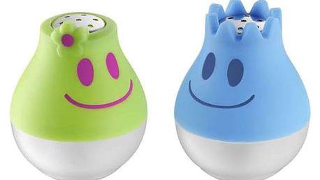 Solnička a pepřenka mini modrá/zelená