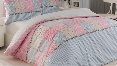 Night in Colours Bavlněné povlečení Elegante růžová, 140 x 200 cm, 70 x 90 cm