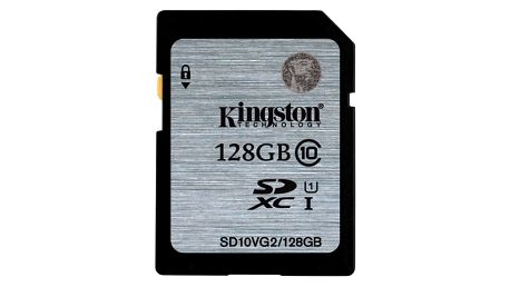 Paměťová karta Kingston SDXC 128GB UHS-I U1 (45R/10W) (SD10VG2/128GB)