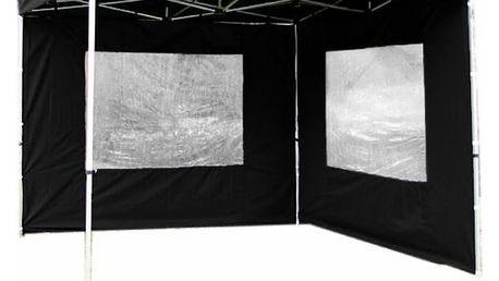 Garthen PROFI 1488 Sada 2 bočních stěn pro zahradní altán 3 x 3 m - černá