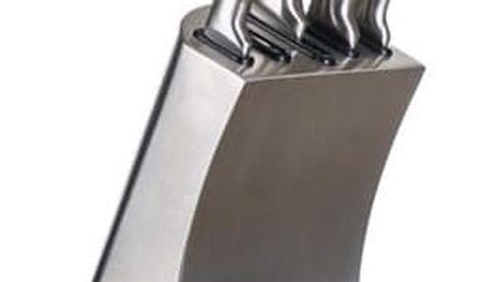 Banquet Sada nožů Metallic Platinum, 5 ks a nerezový stojan