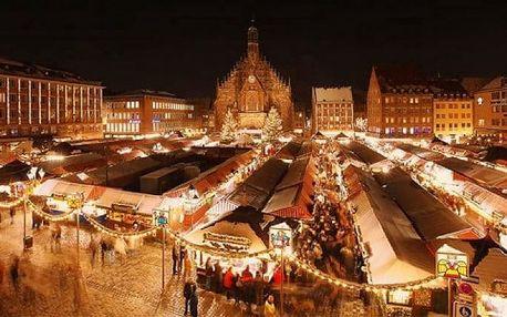 Celodenní zájezd na vánoční trhy do Norimberku s prohlídkou města pro 1 osobu