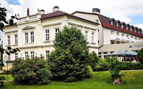 Severní Čechy relaxačně v přepychovém 4* Parkhotelu Morris Nový Bor s balneo procedurami a wellness