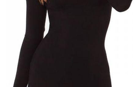 Elegantní krátké šaty s dlouhým rukávem ZEA