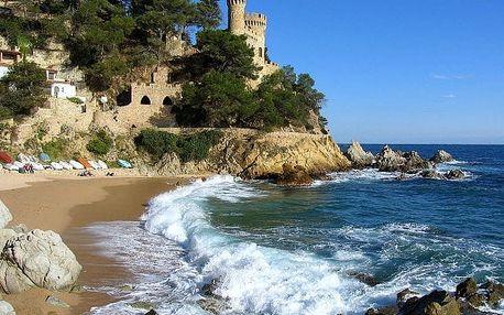 Španělsko - Costa Brava na 8 až 15 dní, snídaně s dopravou letecky z Prahy 350 m od pláže