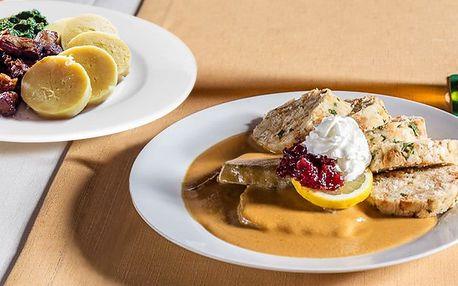 To nejlepší z české kuchyně: 3chodové menu pro 2