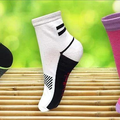 12 párů pánských a dámských funkčních bambusových ponožek