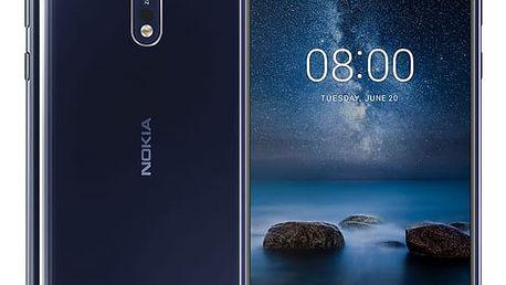 Mobilní telefon Nokia 8 Single SIM modrý (11NB1L01A10)