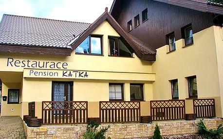 Polopenze a all inclusive na nápoje v Penzionu Katka v Harrachově na 3 nebo 6 dní.
