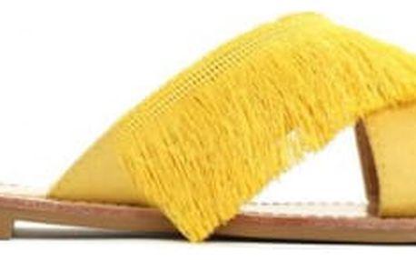 Dámské žluté pantofle Dolora 7256