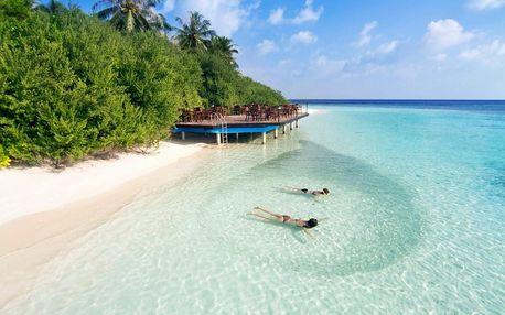 Maledivy - Kaafu Atol na 10 dní, plná penze s dopravou letecky z Prahy 30 m od pláže