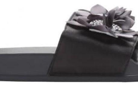 Dámské černé pantofle Serena 10761F