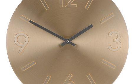 Nástěnné hodiny Atlanta zlatá, 35 cm